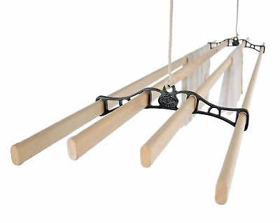 FOUR LATH Victorian Vintage Ceiling Pulley Maid Clothes Airer - Kitchen Maid®