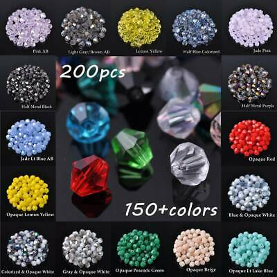 Wholesale 500 Glass Crystal Jewelry Diy Findings Bicone Loose Faceted Beads 4mm