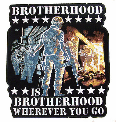 HUGE BROTHERHOOD iron on PATCH JBP56 embroidered biker patches brothers NEW