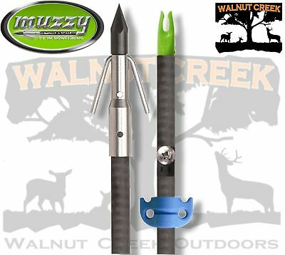 Muzzy Carbon Classic Fish Arrow with Carp-point (nock & safety slide) 1220-CSS