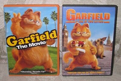 Garfield 1 2 A Tail Of Two Kitties Movie Collection 2 Dvd Set Lot Tale 9 59 Picclick