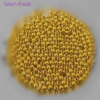 1000 500 100 3mm 4mm Gold Plated Jewellery Making Craft Metal Round Spacer Beads