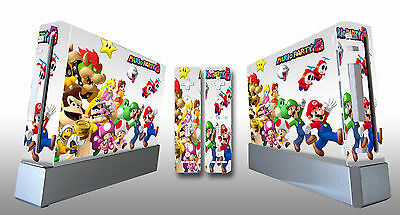 Faceplates, Decals & Stickers Skin Sticker Cover For Nintendowii Console And 2 Remotes Super Mario Party 215