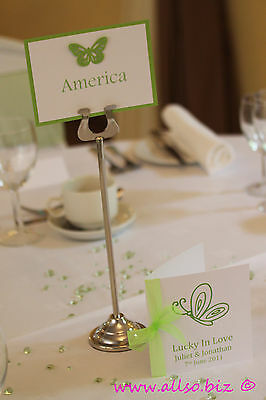 20 x 30cm 12 inch SILVER HARP WEDDING PARTY CATERING TABLE STAND NUMBER HOLDER