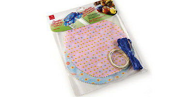Preserving Jar Decorative Fabric Cover with Tie Ribbon: Great for Gifts FREE POS