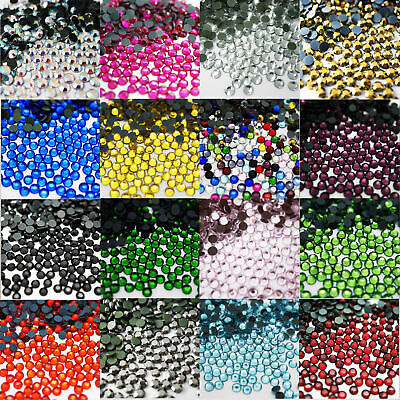 Hot Fix Iron On Glass Rhinestones Round Bead High Quality Shoes Dress Decoration