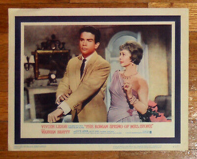 1961 ROMAN SPRING OF MRS. STONE 11x14 lobby card VIVIEN LEIGH, WARREN BEATTY