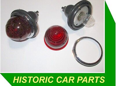 2 Round Red STOP/TAIL LIGHTS for Standard 10 Ten 1958-59 replaces Lucas L594