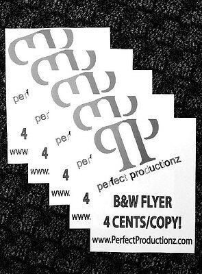 500 8.5x11 Printed Flyers (Black and White)