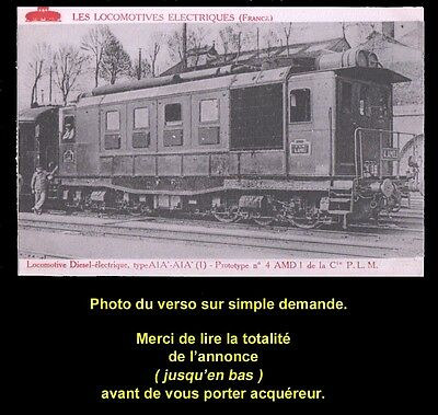 TRAIN, CHEMIN de FER, Carte postale n° 2, LOCOMOTIVE DIESEL-ÉLECTRIQUE, PLM