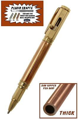 Vertex Bolt Action Ballpoint Pen with Copper Body & 24ct. Gold Hardware / #349