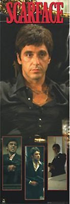 "Scarface Tony Sitting In Chair 3 Frames Door Poster 21"" X 62"" New  !"