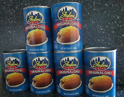 6 Cans Of Skyline Chili  Cincinnati Style Chili (These Are 10.5 Ounce Cans)