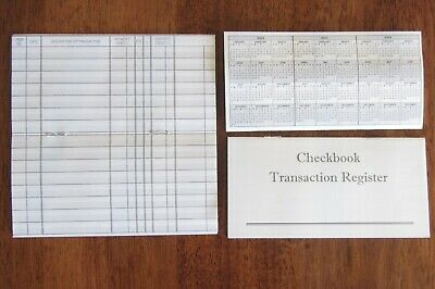 6 New Checkbook Transaction Register  2018 2019 2020 Check Book Record Registers