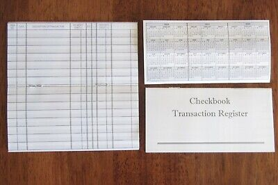 6 New Checkbook Transaction Register  2019 2020 2021 Check Book Record Registers