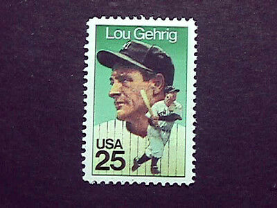 1989 Lou Gehrig  Postage Stamp Issued In His Honor, Mint, Perfect Cond.