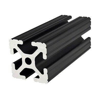 "80/20 Inc 15 Series 1.5"" x 1.5"" Aluminum Extrusion #1515-BLACK x 96.5"" Long N"