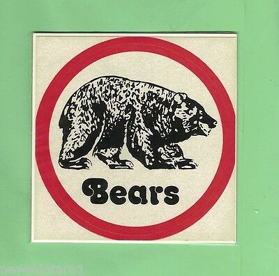 Early Rugby League Sticker - North Sydney Bears