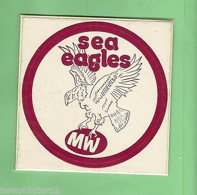 Early Rugby League Sticker - Manly Sea Eagles