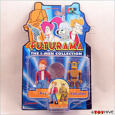 Futurama The I-Men Collection Fry & Calculon 2 figure pack made by Toynami