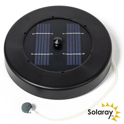 Solaray Water Pump Oxygenator Oxygen Aerator Floating Solar Powered Pond Pool
