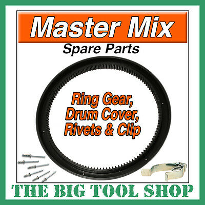 Mastermix Mixer Ring Gear,mc130 C/w Fixing Rivets+Clip Master Mix Mc130