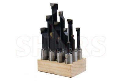 "SHARS 3/4"" Shank Boring Bar Set Premium 12 Pcs Carbide Tipped Bars New"