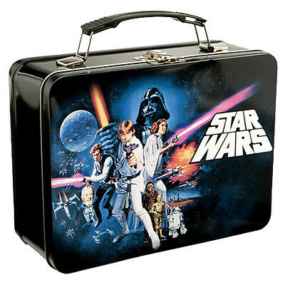 """Star Wars EP4 New Hope Collectible Tin / Tote / Lunchbox  9"""" x 7.5"""" x 3.5"""" New"""
