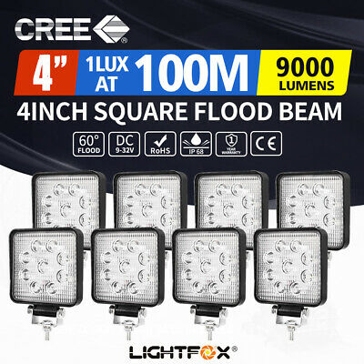 8X 27W CREE LED WORK LIGHT OFFROAD FLOOD REVERSE LAMP TRUCK Driving 12V 24V 4x4