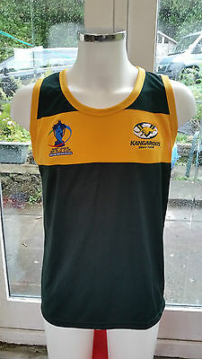 "ISC AUSTRALIA  ""RL WORLD CUP"" TRAINING SINGLET. RRP £29.99. Rugby League"