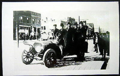 GARY Indiana ~ THE AUTO FIRE FIGHTER  1909 ~ FIRE ENGINE ~  Real Photo PC  RPPC