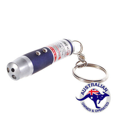 1  x 3 in 1 Laser pointer + LED Torch + UV Keychain  (095)