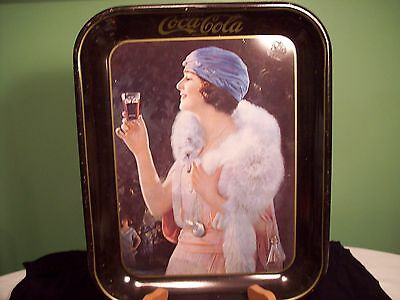 Coca Cola Young Lady Drinking Coke Tray