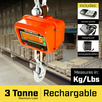 New 3000 Kg Electronic Crane Scales Industrial Hanging Digital Weight
