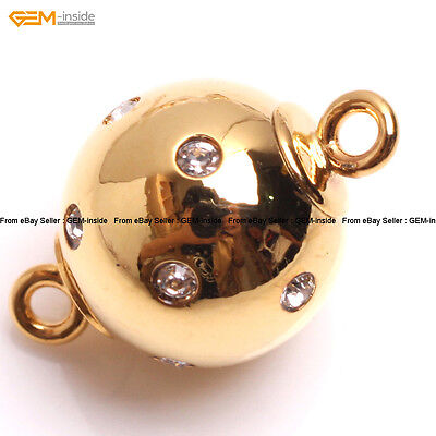 Magenet Gold Filled Ball Jewelry Making Findings Zircon Clasp 10mm