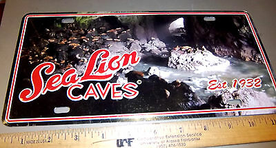 Sea Lion Caves in Oregon collectible metal license plate, great souvenir! NEW!
