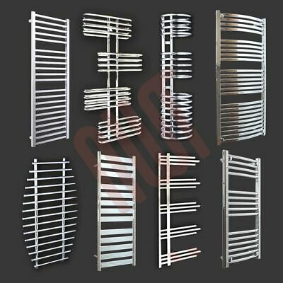 HUGE SALE Designer Heated Towel Rails Warmers Bathroom Radiators, Chrome & White
