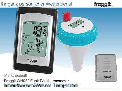 WH022 Funk Poolthermometer Funkthermometer Teichthermometer Schwimmbad Pool