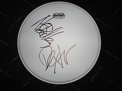 The Offspring Signed Drumhead Dexter Holland Noodles Pretty Fly Coa Rare Ga
