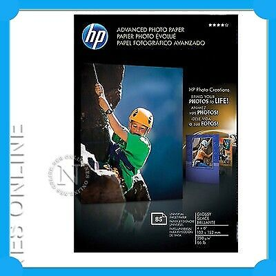 "HP Advanced Glossy Photo Paper - 4x6"" - 250gsm - 85 Sheets Value Pack Photosmart"