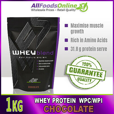 Premium Whey Protein Powder - Wpc / Wpi - Whey Blend - Chocolate - 1Kg