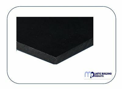 Black Polypropylene Sheet Smooth 8ft x 4ft 1mm, 1.5mm, 2mm, 3mm, 4.5mm & 6mm