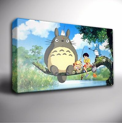 My Neighbour TOTORO Riverside - Giclee Wall Art CANVAS Print *Choose your size