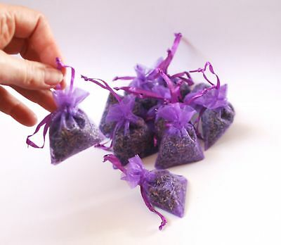 10 natural aromatic lavender hanging flower bags, moth repellent .