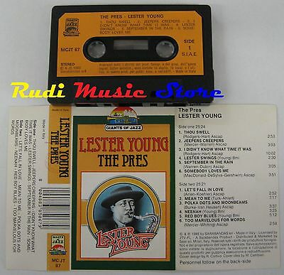 MC LESTER YOUNG THE PRES 1986 ITALY GIANTS OF JAZZ MC JT 67 no cd lp dvd vhs
