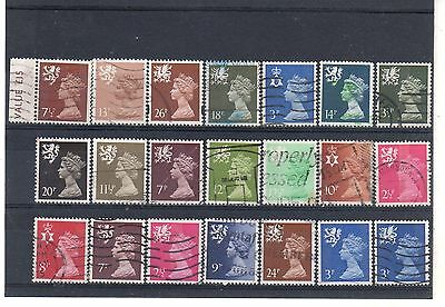 GB REGIONALS = New selection of FINE USED stamps. UNCHECKED for types, etc. (21)