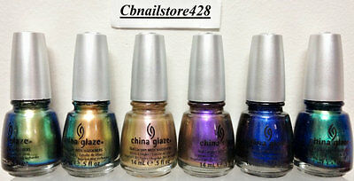 China Glaze Nail Lacquer- BOHEMIAN Collection 6 CHROME Colors- Pick Any Color