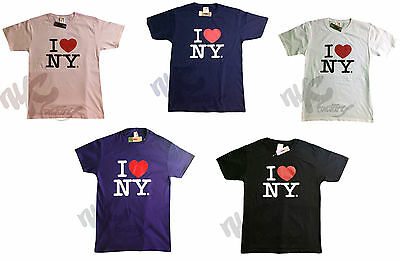 I Love NY Kids T-Shirt Short Sleeve All Color and Sizes New York Heart Youth Tee
