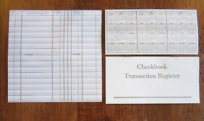 75 Checkbook Transaction Registers Calendar 2019 2020 2021 Check Book Register