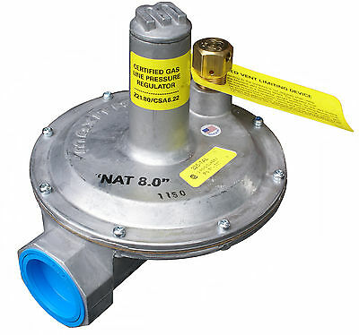 "Natural Gas Regulator, Maxitrol 325-7L, 2 psi Ventless, 1-1/2""npt"